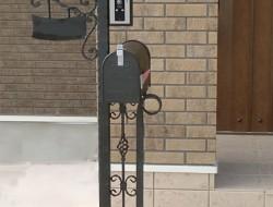 ロートアイアン 門柱灯